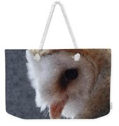 Barn Owl Painterly Weekender Tote Bag