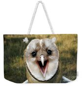 Barn Owl Tyto Alba Weekender Tote Bag