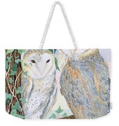 Barn Owls Weekender Tote Bag by Suzanne Bailey
