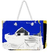 Barn Snow Storm Rc Guss Photo 1951 Collage St. Paul Park Minnesota Color Drawing Added Weekender Tote Bag