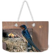 Barn Swallow At Nest Weekender Tote Bag