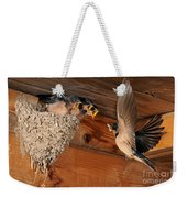 Barn Swallow Nest Weekender Tote Bag by Scott Linstead