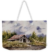 Barn Under Puffy Clouds Weekender Tote Bag
