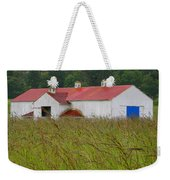 Barn With Blue Door Weekender Tote Bag by Art Block Collections