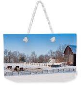 Barn With Horses  Weekender Tote Bag