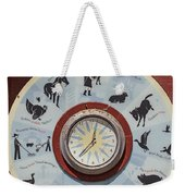 Barn Yard Clock Weekender Tote Bag