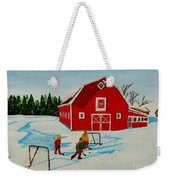Barn Yard Hockey Weekender Tote Bag