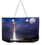 Barnegat Lighthouse Super Moon Weekender Tote Bag