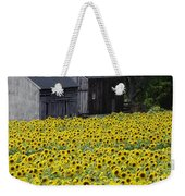 Barns And Sunflowers Weekender Tote Bag