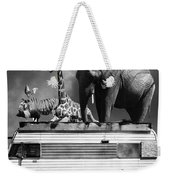 Barnum And Bailey Goes On A Road Trip 5d22705 Vertical Black And White Weekender Tote Bag