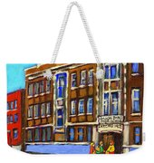 Baron Byng High School 4251 St. Urbain Street Plateau Montreal City  Scene Carole Spandau Montreal A Weekender Tote Bag