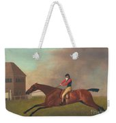 Baronet With Sam Chifney Up Weekender Tote Bag