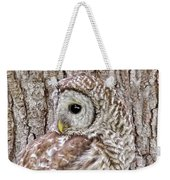 Barred Owl Camouflage Weekender Tote Bag