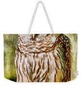 Barred Owl On Moss Weekender Tote Bag