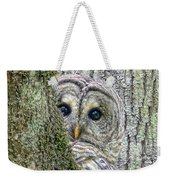 Barred Owl Peek A Boo Weekender Tote Bag