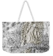 Barred Owl Snowy Day In The Forest Weekender Tote Bag