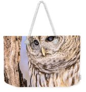 Barred Owl Watch Weekender Tote Bag