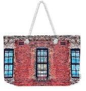 Barred Windows On Brick Weekender Tote Bag