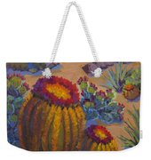 Barrel Cactus In Warm Light Weekender Tote Bag