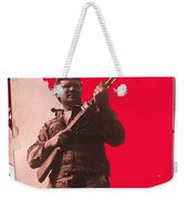 Barry Sadler Machine Gun Authentic Ww2 Africa Korps Hat Camouflage Clothes Collage Tucson 1971-2012 Weekender Tote Bag