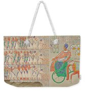 Bas-relief At Medynet-abou, Palace Weekender Tote Bag