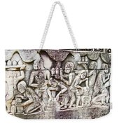 Bas-reliefs Of Khmer Daily Activities In The Bayon In Angkor Thom-cambodia  Weekender Tote Bag