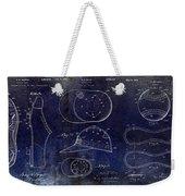 Baseball Patent Blue Weekender Tote Bag