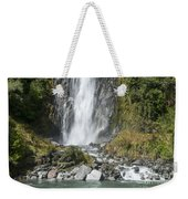 Base Of Thunder Creek Falls Weekender Tote Bag