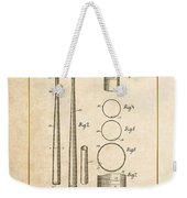 Baseball Bat By Lloyd Middlekauff - Vintage Patent Document Weekender Tote Bag