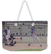 Baseball Batter Contact Digital Art Weekender Tote Bag
