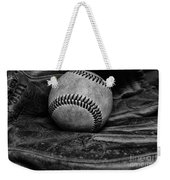 Baseball Broken In Black And White Weekender Tote Bag