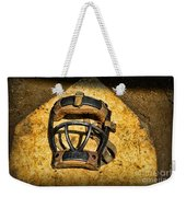 Baseball Catchers Mask Vintage  Weekender Tote Bag