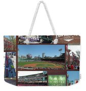 Baseball Collage Weekender Tote Bag