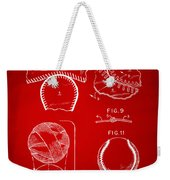 Baseball Construction Patent 2 - Red Weekender Tote Bag by Nikki Marie Smith