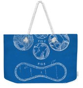Baseball Construction Patent - Blueprint Weekender Tote Bag by Nikki Marie Smith