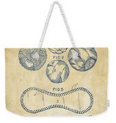 Baseball Construction Patent - Vintage Weekender Tote Bag