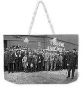 Baseball Fans Waiting In Line To Buy World Series Tickets. Weekender Tote Bag