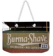 Baseball Field Burma Shave Sign Weekender Tote Bag