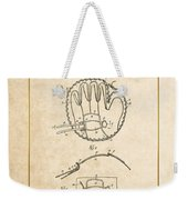 Baseball Mitt By Archibald J. Turner - Vintage Patent Document Weekender Tote Bag