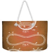 Baseball Patent Blueprint Drawing Sepia Weekender Tote Bag