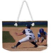 Baseball Pick Off Attempt Weekender Tote Bag