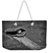 Baseball Pitchers Mound In Black And White Weekender Tote Bag by Paul Ward
