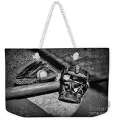 Baseball Play Ball In Black And White Weekender Tote Bag