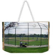 Baseball Playing Hard 3 Panel Composite 01 Weekender Tote Bag