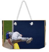 Baseball Playing Hard 3 Panel Composite 02 Weekender Tote Bag