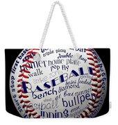 Baseball Terms Typography 1 Weekender Tote Bag