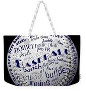 Baseball Terms Typography 2 Weekender Tote Bag