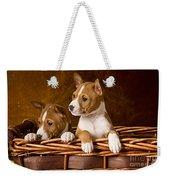 Basenji Puppies Weekender Tote Bag by Marvin Blaine
