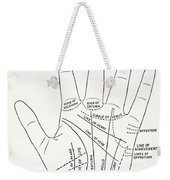 Basic Lines And Lesser Lines Of The Hand Weekender Tote Bag