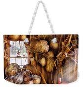 Basket Maker - I Like Weaving Weekender Tote Bag by Mike Savad